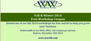 Free workshop coupon 2014